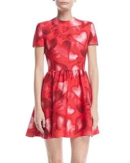 Valentino Fan Bingbing L'amour Love Red Mini Dress