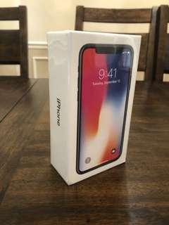 Apple iPhone X - 256GB - SEALED NEW - Space Gray (AT&T) A1901 (GSM)