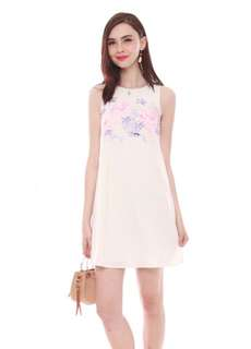 ACW watercolour floral trapeze dress