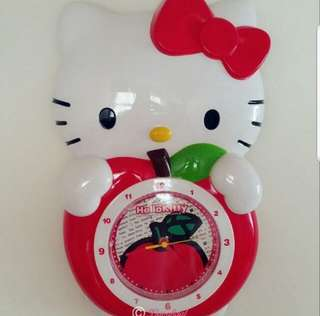 🌞UP FOR ACTION (Purchase $189.90)➡️MY FOLLOWERS ONLY🌞🚫Non Followers is $189.90🚫🐰AUTHENTIC BRAND NEW IN BOX (CLEAN)🐰✨JAPAN RARE ITEM✨❤Limited Edition❤SANRIO ORIGINAL Die Cut Hello Kitty (full body Shape) Clock💋No Pet No Smoker Clean Hse💋