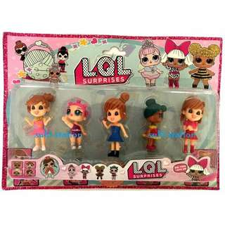 LOL SURPRISE DOLL GIRLS TOY FIGURES CAKE TOPPER