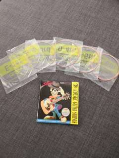 🚚 Ukelele/ Acoustic guitar String full set Promotion