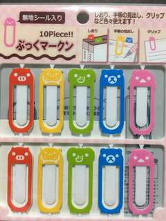 Animal bookmarks/clips