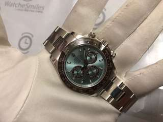 Rolex Daytona platinum Ice blue dial 116506