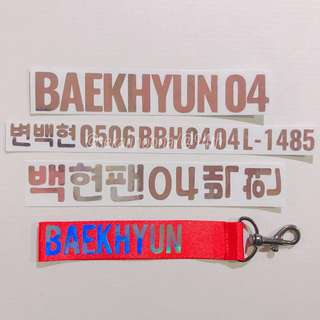 EXO BAEKHYUN - lightstick decals + nametag