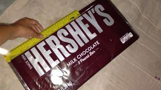 Hersheys Milk Chocolate 3 Pound Bar (1.36kg)