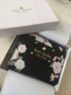 Kate Spade Black Floral Wallet