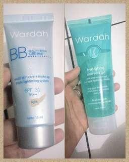 Wardah BB cream + Wardah Aloe Vera Gel