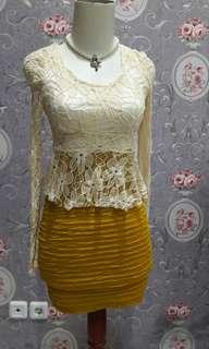 Mini dress brukat street