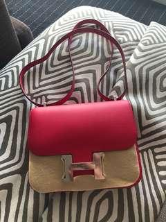 Hermes mini Constance pink