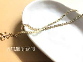 韓國購- 閃石 織繩 雙叠 手鏈