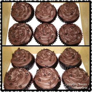Triple Chocolate Cupcake
