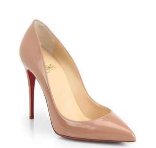 Authentic Christian Louboutin Pigalle 100mm Nude Patent Size 6.5