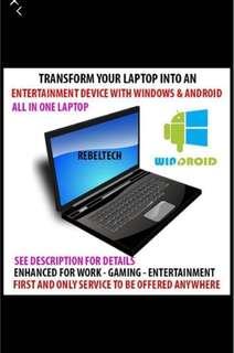 PC Laptop Android & Windows 10 Upgrade