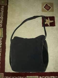 Bally Vintage Black Nylon Shoulder Bag Authentic