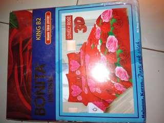 Sprei Bonita lovely rose 3D king B2