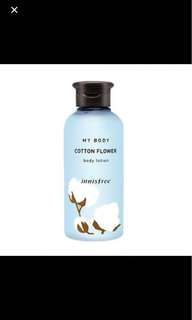 Innisfree Cotton Flower Body Lotion