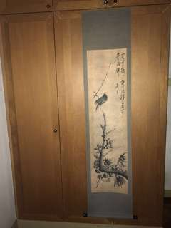 A Hand Painted Bird Painting-173x47.7cm-#jpz020