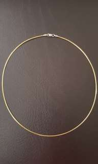 Omega Chain Necklace Two-tone (18k Italy Gold)