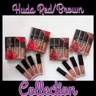Huda 4 in 1 Set Red/Brown Collection