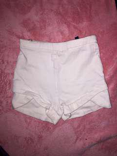 Ice white high Waist shorts