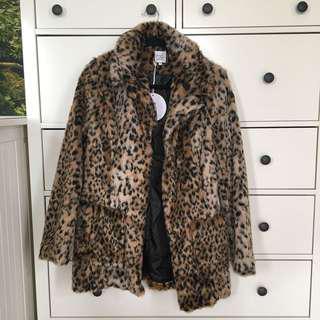 PRINCESS POLLY Leopard Fur Coat