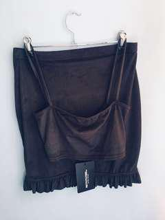 PLT set black skirt and crop top