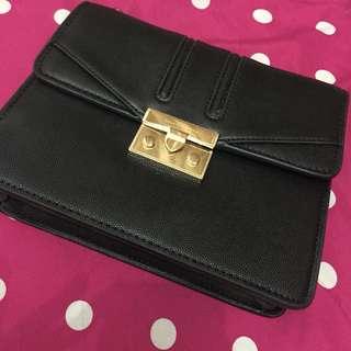 Charles and keith bag black gold