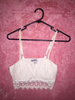 Mooloola white lace crop