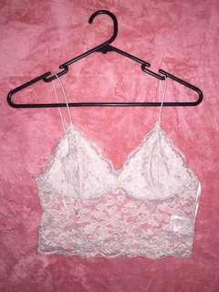 Valley girl white lace crop