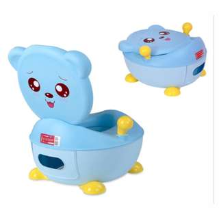 🚚 Shears Baby Teddybear Potty Seat Blue