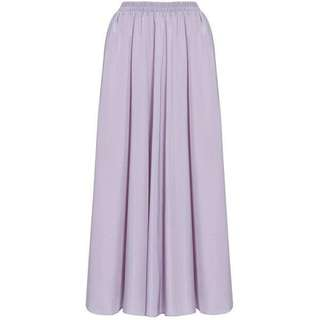 Dusty Purple Flare Maxi Skirt