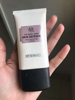 Reprice ## Skin Defence The body Shop sunscreen
