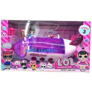 LOL SURPRISE DOLL GIRLS AIRPLANE COLLECTIBLE TOYS