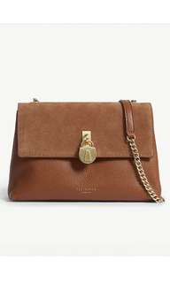 最新款式 Ted Baker Helena suede and leather cross body bag