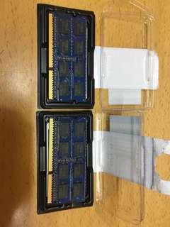 SODIMM Ram x2 (2GB 2Rx8 OC3-10600S-9-10-F1)