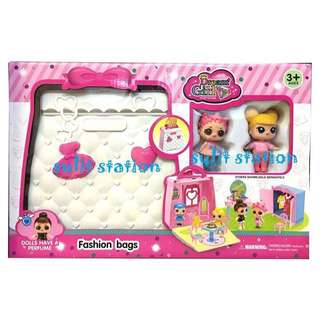 LOL SURPRISE GIRLS DOLL HOUSE in CARRY CASE BAG TOYS