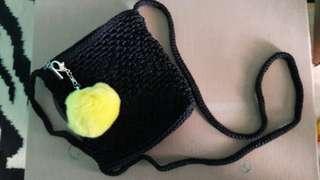 Mini Knit Bag with Pompom