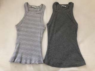 Pre loved 2 pieces zara top size S