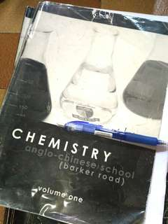 Chemistry Anglo-Chinese School ACS (Barker Road) Volume 1, 2 and 3 by Alex Lee