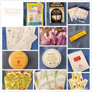 Assorted Korean Beauty Products