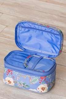 Yumi Kim makeup train case storage travel floral periwinkle blue. New.