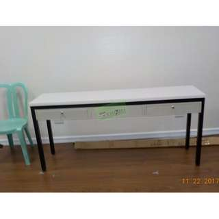 CUSTOMIZE TABLE WITH CENTER DRAWER--KHOMI