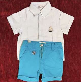 Baby Boy Shirt and Pant Set