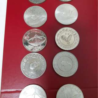 Uncirculated S$10.00 silver coins