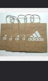 Adidas paper bags