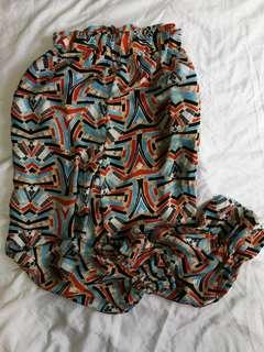 Chiffon Print Pants