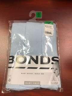 Bonds blue singlets pack 3 Size 000 or 0-3 months