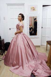 Blush pink gown for rent/sale