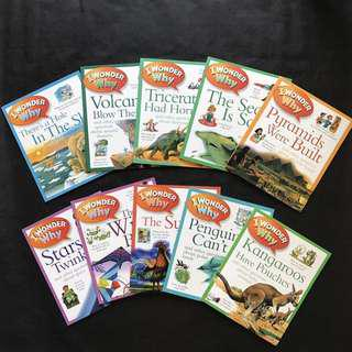 💥 NEW - 🇬🇧 Kingfisher - I Wonder Why Collection Set (10 Books) - Children Learning Books